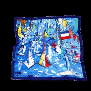 L'écharpe ultramarine - Twill Silk scarf 90/90 cm