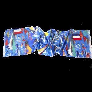 L'écharpe ultramarine - Twill Silk scarf 45/200 cm