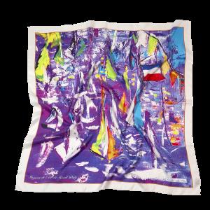 L'écharpe ultraviolet - Twill Silk scarf 90/90 cm