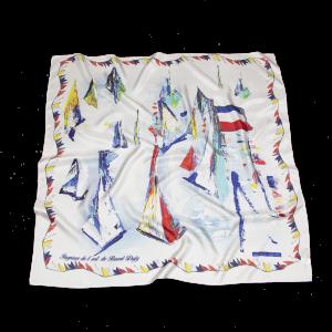 L'écharpe blanche - 90x90