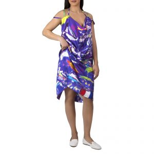 Ultraviolet Twill Silk Dress - Mer a Porter