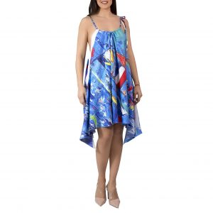 Ultramarine Twill Silk Dress - Mer a Porter